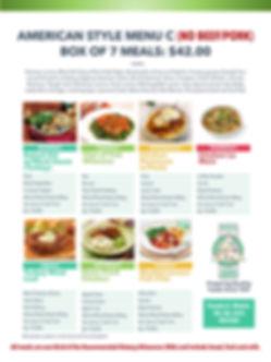 Home Deliverd Meals AMERICAN Catalog C.j