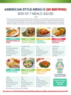 Home Deliverd Meals AMERICAN Catalog E.j