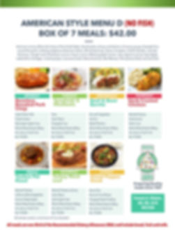 Home Deliverd Meals AMERICAN Catalog D.j