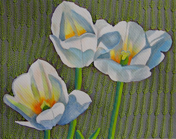Tulips and Embroidery