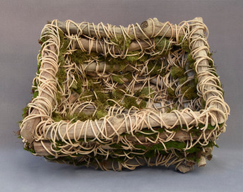 Driftwood Basket and Moss #1