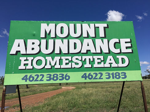 Entrance to Mt Abundance Homestead