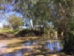 Fishing and swimming hole at Bungeworgorai