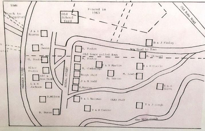 Map of the main Yumba, Mitchell