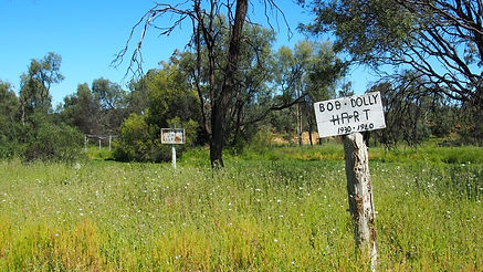 Signs to remember families lived on the Yumba, Mitchell