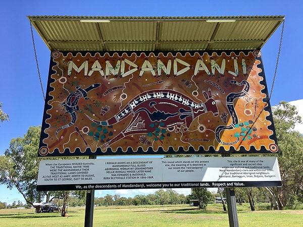 Mandandanji sign at Walkabout Park