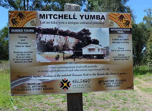 Mitchell Yumba guided tours sign