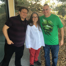 Paul Hanson, Cookie Merenco and myself at ORT Studios tracking my record.