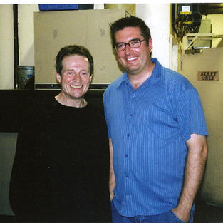 With The Incrdible John Paul Jones backstage after a Nickel Creek gig in London