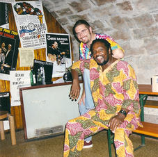 The great Baba Tunde Lee and myself in Germany. 1997
