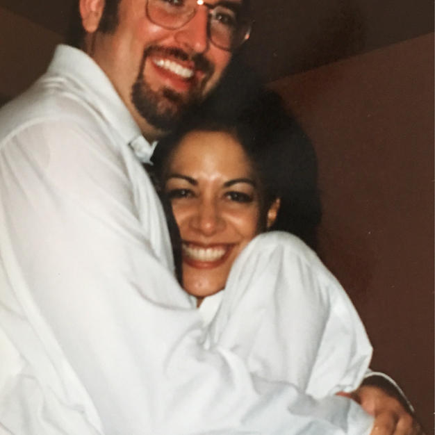 with Sheila E. backstage between sets at Mr. E's 1997