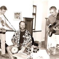 Rob Ickes, Joe Craven and myslfe In Trnava Slovakia for Dobrofest 1998