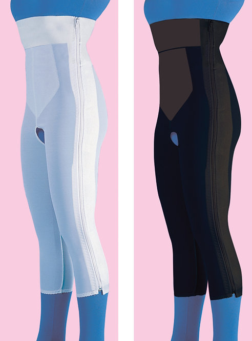 High Waist Compression Garment Below Knee