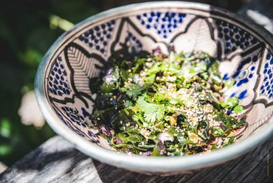 Salade d'algues wakamé et kombu royal