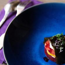 Millefeuille de légumes de saison à la wakamé