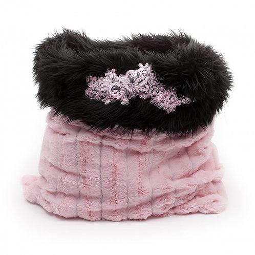 Chi Chi Pink Chinchilla Fur Pooch Pouch