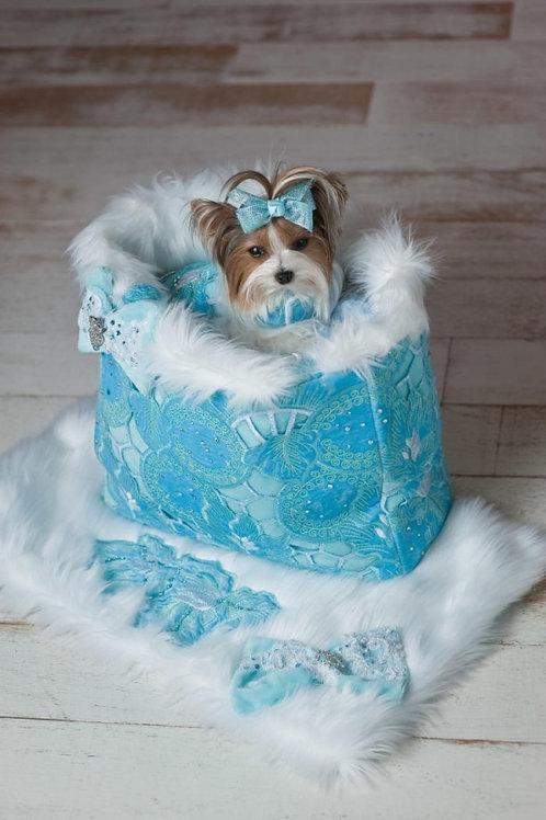 Aqua Blue Ivy Lust Carrier, Blanket & Harness
