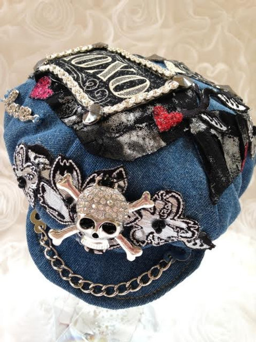 Rock Star Punk Denim Cap/ Hat