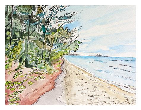 Lakeshore Landscape No. 3 - PRINT