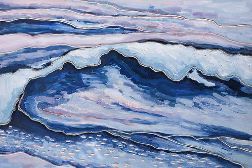 Crashing Wave At Sunset - 24 x 36