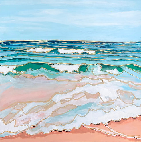 """Surf Lines - 24x24"""""""