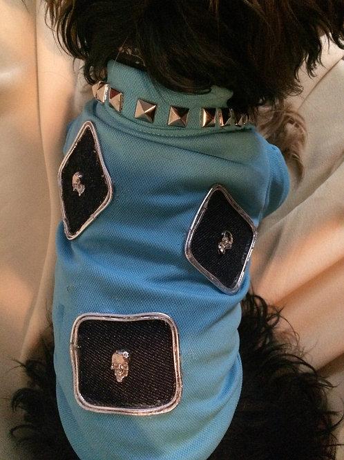 Skulls and Stud Pupz & Dazzle Polo Shirt