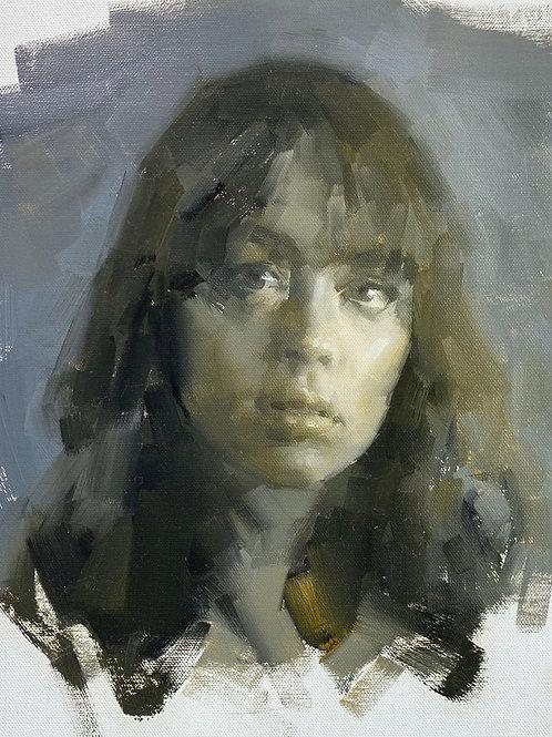 Ochre Grey Portrait