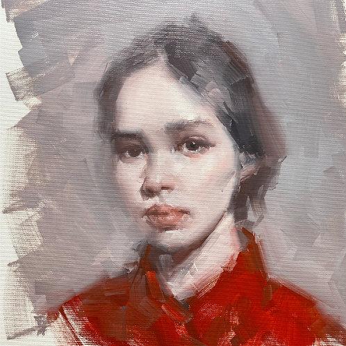 Red Grey Portrait