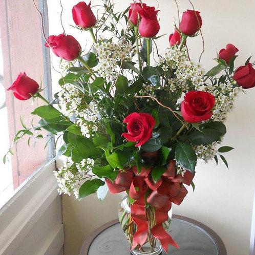 dozen rose arrangement