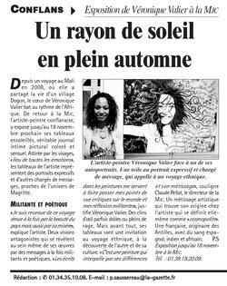 Gazette du Val d'Oise 11 nov. 2009