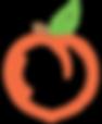 golden acres peach company logo with bor