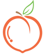 golden acres peach company logo with bor
