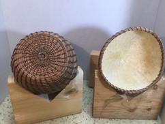 Mahkah (earth) Gourd Art & Pine Needle Basketry