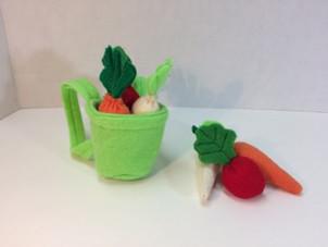 Veggies and basket