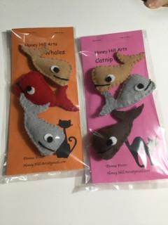 Whale Catnip Toys