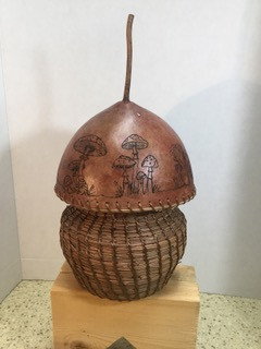 Mahkah (earth) Gourd art and Pine Needle basketry