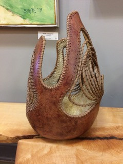 Mojag (never silent) Gourd Basket w/ Pine needles
