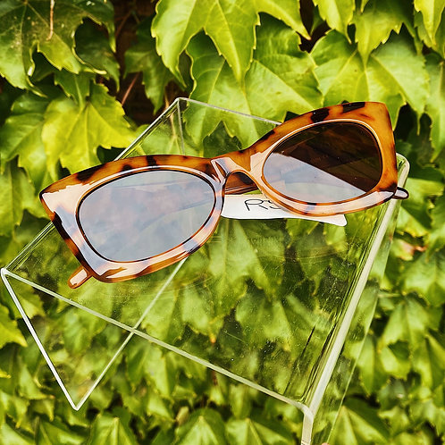 Tortoise Squared Off Cat eye Sunglasses