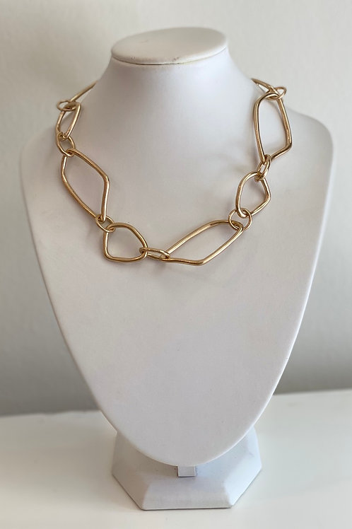 Abstract Gold Chain