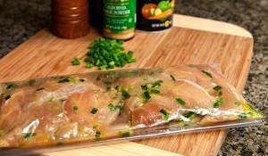 chicken in plastic bag
