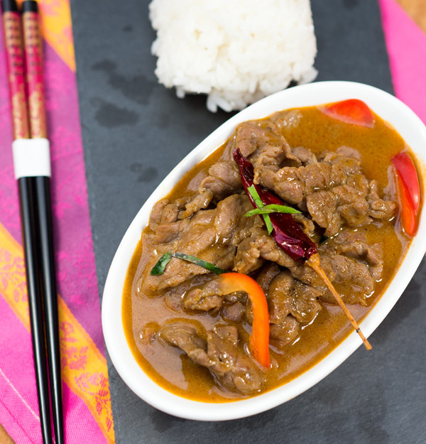 Delicious beef panang. www. healthnutnation.com