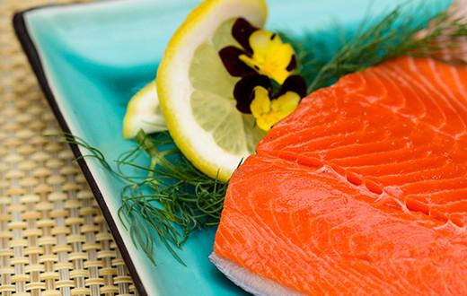 picture of sockeye salmon raw