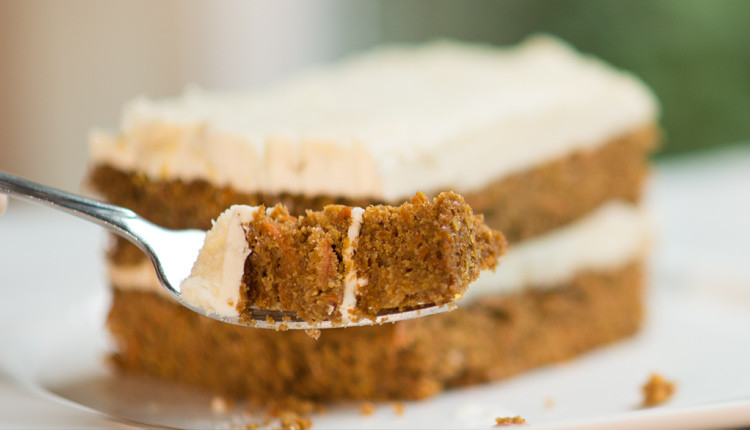 super moist bite of paleo carrot cake
