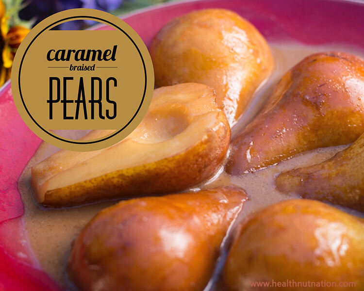 Learn how to make Simple Stove-top Braised Pears. Dairy free, gluten free, egg free, Paleo