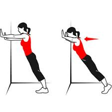 How to do a wall push-up