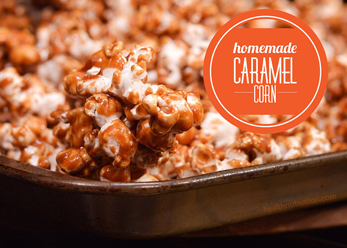 Homemade Caramel Corn is a breeze to put together, inexpensive and is gluten and nut free!