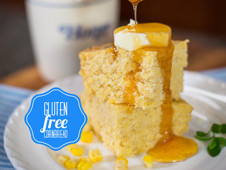 Moist, tender and delicious, you'll never know this cornbread is actually gluten free and dairy free!
