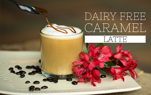Learn how to make a rich and creamy dairy free caramel latte using a mix of canned coconut and boxed coconut milk. Paleo, gluten free, vegan