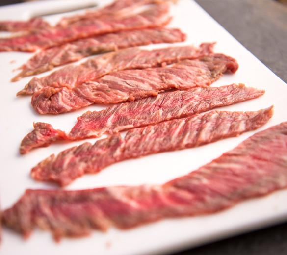 raw steak strips marinade