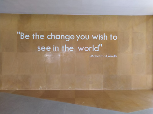 Be the change you to see
